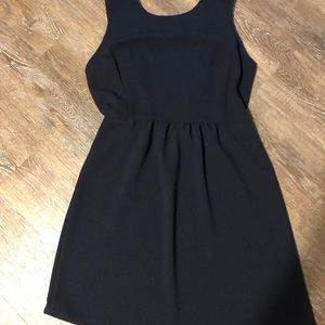 Size large Navy boutique dress NWT